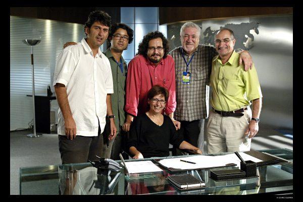 BSB, 28/08/2006.  FOTO: ICHIRO GUERRAPres. Lula no Estudio do SAAN - Movie Center